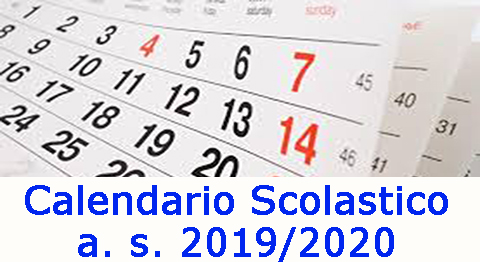 Calendario Scolastico a.s. 2019/2020