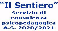 """Logo """"Il Sentiero"""" consulenza psicopedagogica A.S. 2020/2021"""